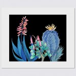 Night Succulents Garden – 50x40cm