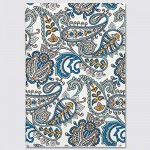Embroidered Softcover Lined Notebook - Paisley
