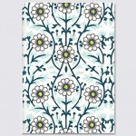 Embroidered Softcover Lined Notebook - Trellis