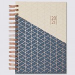 2021 A5 Rose Foil Daily Diary