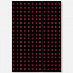 A4 Quadro Lined - Black/Red