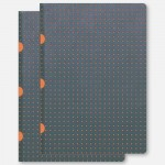 A5 Cahier - Grey-Orange Pack of 2