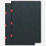 A5 Cahier Lined - Black/Red Pack of 2